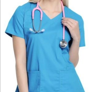 Scrub star uniform set top and bottom turquoise